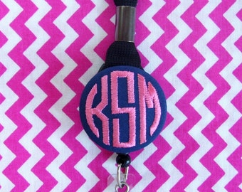Retractable Embroidered Monogrammed Lanyard with Break-away Clasp - by Flowersaks