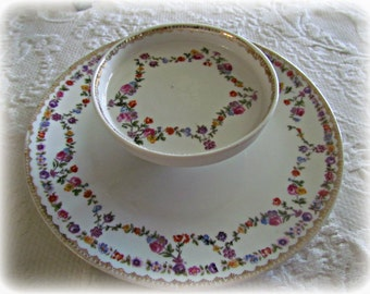 Vintage Two Tier Table Plate Germany