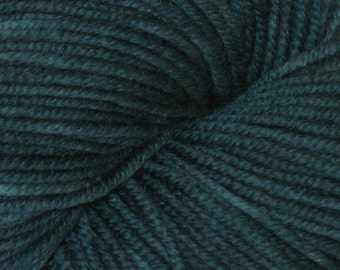 Green OOAK 100% Superwash Merino DK Yarn