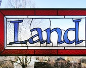 """Name Panel--10"""" x 21.5""""--Stained Glass Window Panel"""