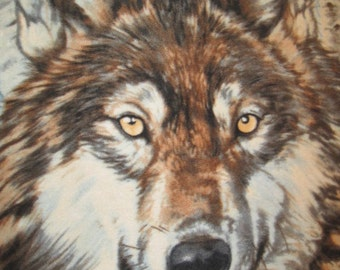 Wolf Walking in the Woods Fleece Blanket - Ready to Ship Now