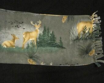 Deers in the Woods Fleece Scarf