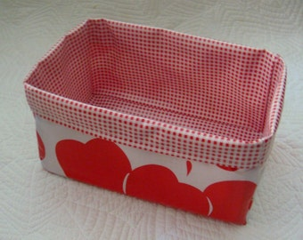 Red Apples and Red Gingham Caddy Carryall