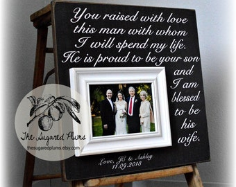 Mother of the Groom, Mother In Law Gift, Wedding Gift Parents, Parents Thank You Gift, Gift for In Laws, Personalized Frame 16x16