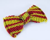 Chainmail Bow Tie - Small Stripes in Yellow and Red