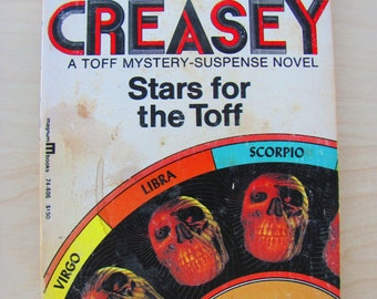 Stars for the Toff John Creasey Vintage Paperback Book Horror Science Fiction Novel Thriller Astrology Horoscope Dark Fortunes Evil Goth