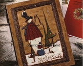 Christmas Is-DIY Painting ePattern-Primitive Snowman-Country Decor-Home Decor-Hand Made
