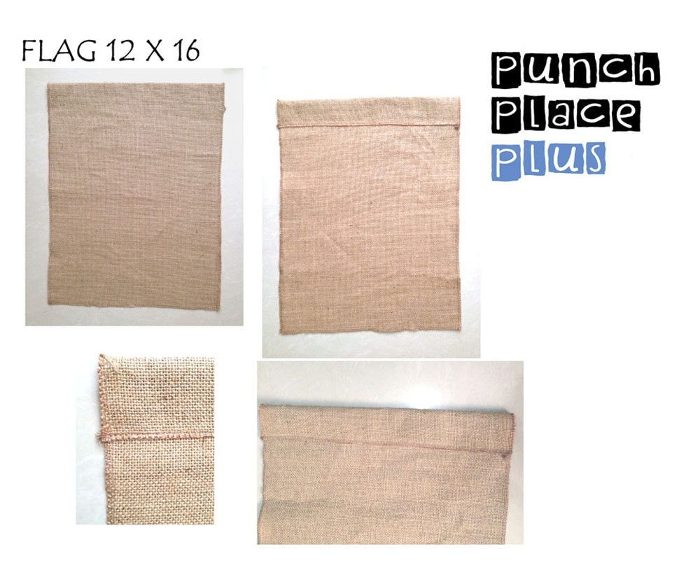 5 Blank Burlap Flags Wholesale Garden Yard Diy By