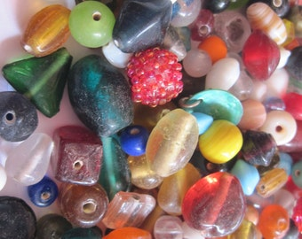 Lot of Mixed Beads for Jewelry Making or Scrapbooking