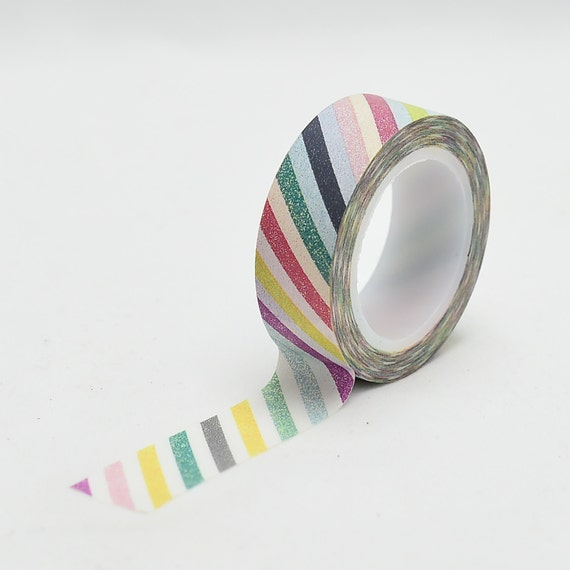 Faded Stripes Washi Tape -Rainbow - wrapping tape - decorative tape - Love My Tapes