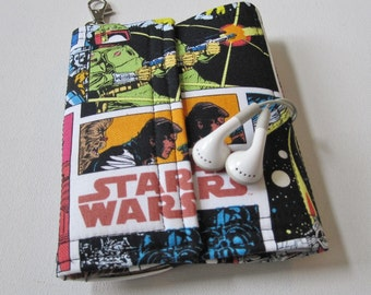 Nerd Herder gadget wallet in Star Wars Comic for iPhone 6, Samsung Galaxy S5, Galaxy Note, digital camera, smartphone, guitar picks