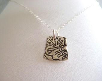 Kalo Necklace, Taro Necklace, Hawaiian Plant Necklace, Haloa
