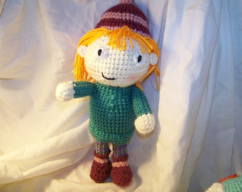 Crochet peg doll peg cat
