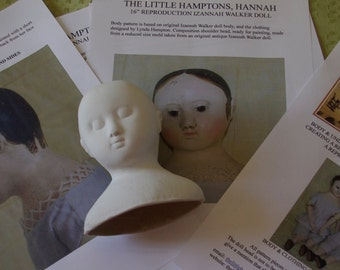 """Free postage Reproduction of Hannah, Izannah Walker Doll Kit  for a 16"""" doll."""