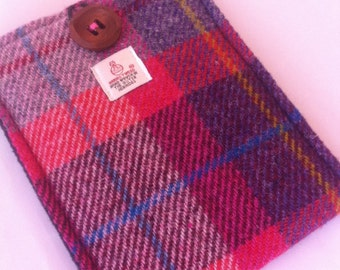 Harris tweed kindle paperwhite kindle fire iPad mini Nook Glowlight kindle fire samsung galaxy S3 S4 case cover sleeve tartan pink
