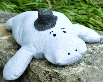 PDF Pattern: Hugh Manatee Stuffed Animal Sewing Pattern, Great Gift for Kids!