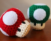 Mario Mushroom Set (Red and Green)
