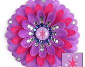 Twilight Sparkle Penny Blossom Sparkly Rhinestone Flower Barrette