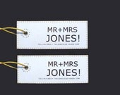 100% handmade European design - Unique personalized Wedding gift for the couple - Custom Mr & Mrs luggage tags.