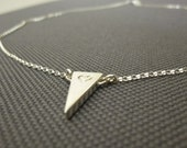 Gold Triangle Necklace-V Necklace-Gold Spike Necklace-Arrowhead Necklace-Arrow Necklace-Personalized Necklace-Gold Spik Necklace-Momentusny
