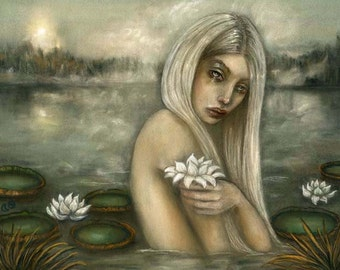 Rusalka Mermaid Mythology water nymph Slavic folklore 8x10 fine art print