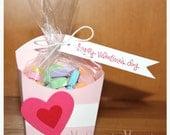 Valentine Fry Box - Valentine's Day - Sweet Heart Candy - Valentine Candy - Valentine Party Favors - Kids Valentines - Treat Bags