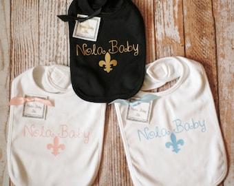 Nola Baby Knit Bib