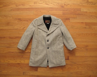 womens vintage herringbone wool coat