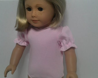 Pink Cotton Leotard for an American Girl Doll or other 18 inch Doll