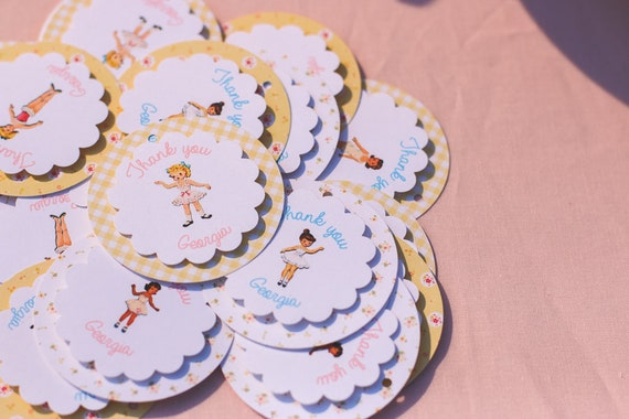 Vintage Paper Doll Tags