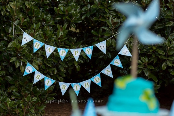 Frogs Snails and Puppy Dog Tails Banner (Bunting)