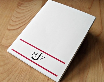 Custom Monogram Notepad - your Choice of Color and Fonts