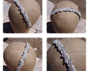 Bridal Wedding Crystal Vine leaf headband