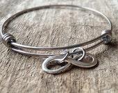 Infinity Bracelet, Stackable Bangle Bracelet, Infinity Bangle, Expandable Bangle, Bohemian Bracelet, Bohemian Jewelry, Black Friday