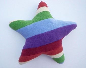 Rainbow Throw Pillow - Star Shaped Pillow