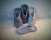 Felted women men slippers Wool clogs - felted slippers for women or men - house shoes - Mother's day gift - Gift for Daddy, Easter gift