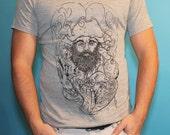 Blackbeard Silk Screened Tee