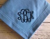 Monogrammed Stadium Blanket, Sweatshirt blanket, custom monogram, personalized throw blanket