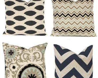 Euro Sham Decorative Pillow Cover Throw Pillow Cover Suzani Sofa Pillow Covers Stone Denton by Premier Prints Black Pillows