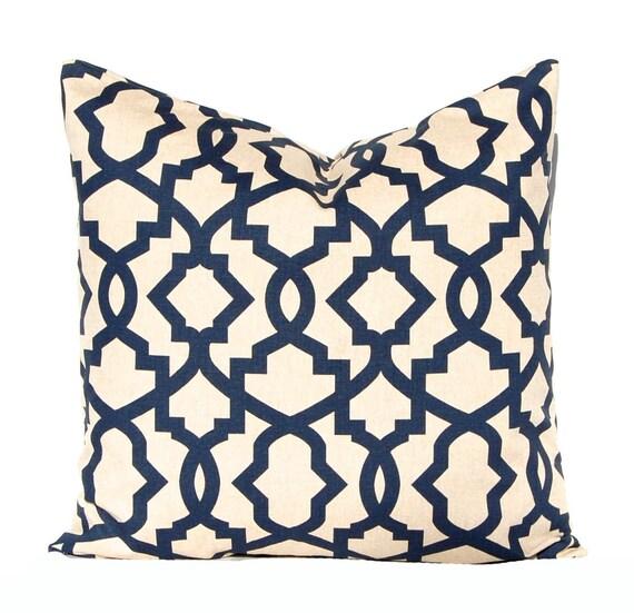 euro sham navy blue pillow covers linen by companytwentysix. Black Bedroom Furniture Sets. Home Design Ideas