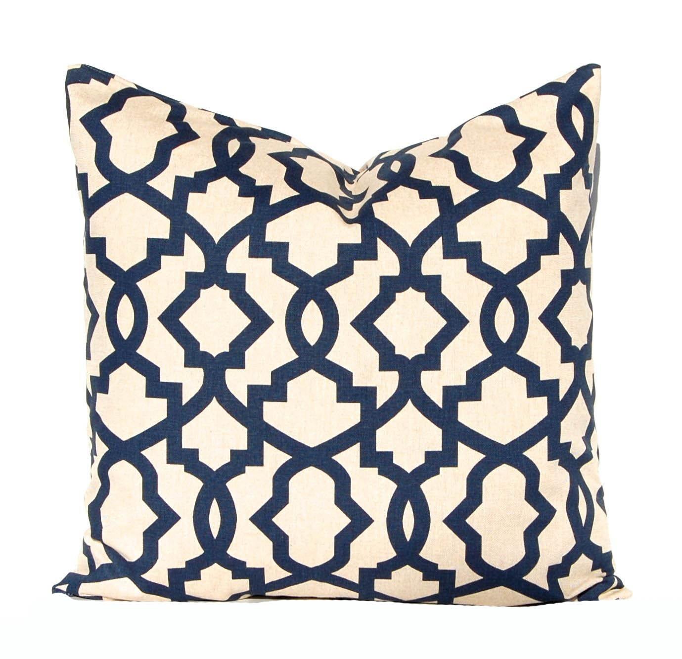 Euro Sham Navy Blue Pillow Covers Linen by CompanyTwentySix