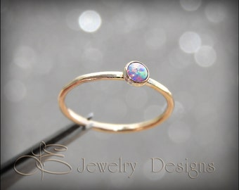 GOLD OPAL STACKING ring - choose your opal - opal stacking ring - gemstone stacking ring - stacking rings, stackable rings, stacked ring