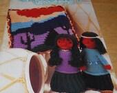 Annie's Crochet Newsletter Oct 1988 Pattern magazine Doily Afghan Dress Purse Rug