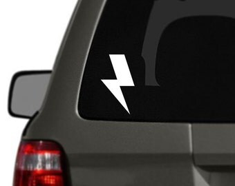 Lightning Bolt Vinyl Car Decal BAS-0264