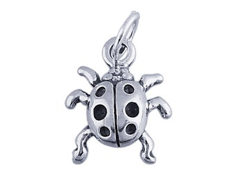 Sterling Silver 3-D Ladybug Charm