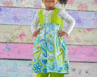 Reverse Knot Dress Pretty as a Peacock II Collection Toddler Infant Girls