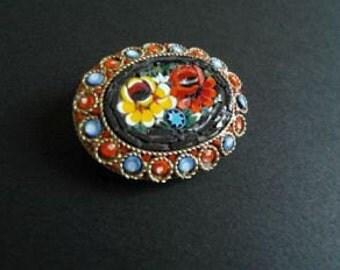 Vintage Brooch Mico Mosaic Jewlery 50s