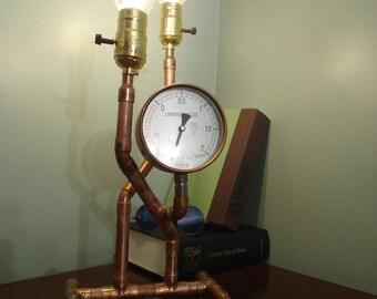Compound Gauge Steampunk Desk Lamp