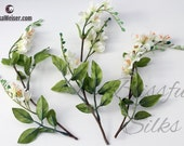 Artificial Flowers - One LOT CREAM WHITE Vinca Clusters - Flower Crowns, Halos, Wedding Crown, Hair Accessories