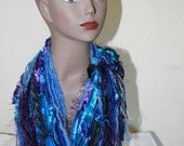 infinity mobius scarf in blues ONE OF A KIND